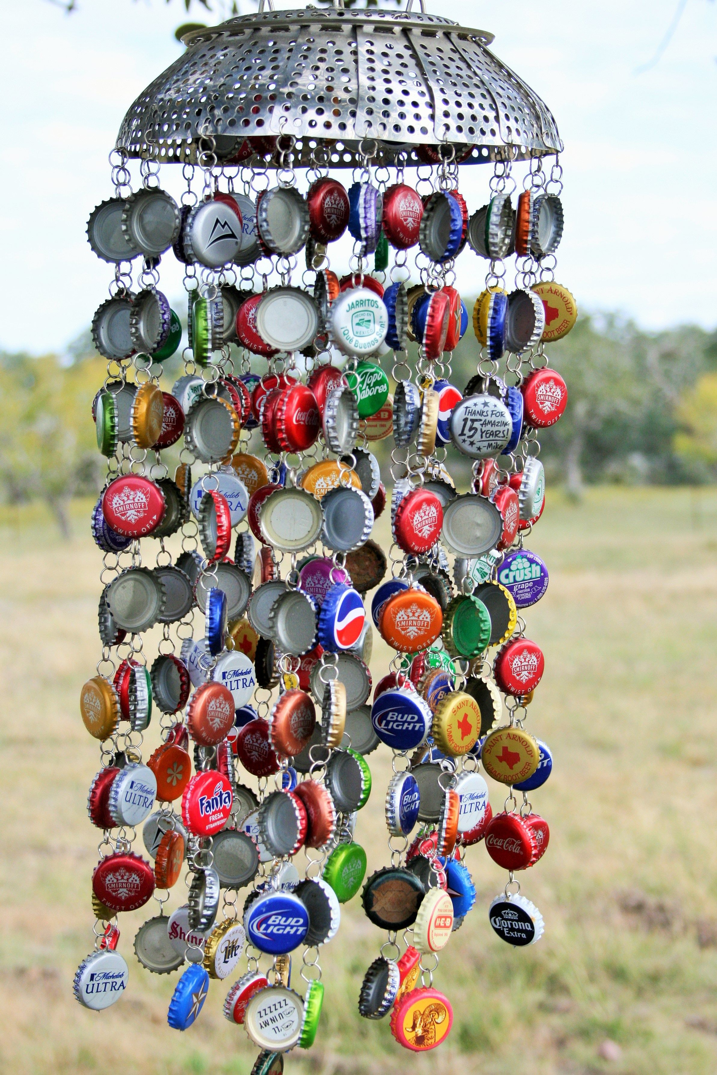 Chimes from Bottle Caps