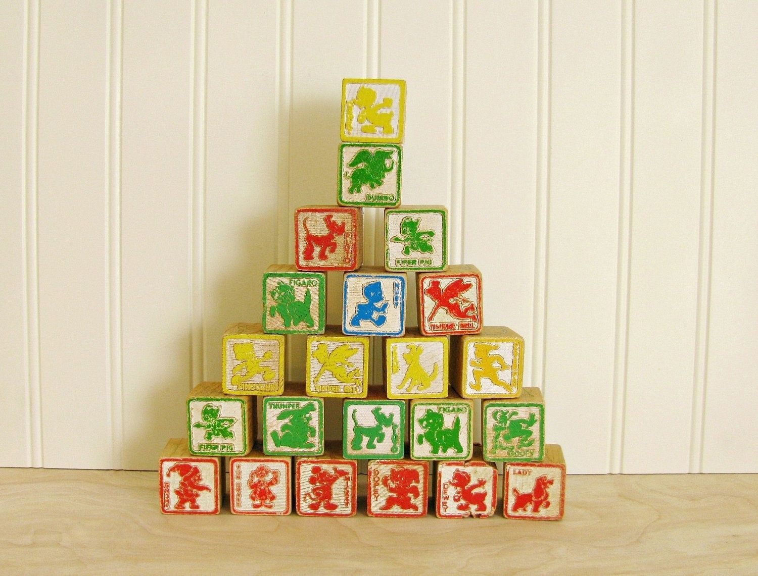 ABC Wood Letter and Animal Blocks