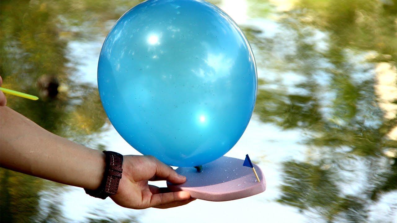 Balloon Powered Sponge Watercraft