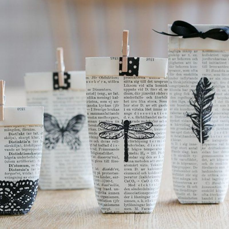 Book Pages Into Bags