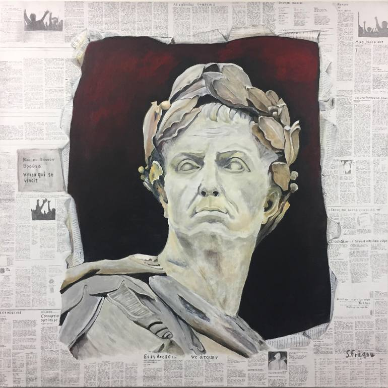 Painting On Newspaper