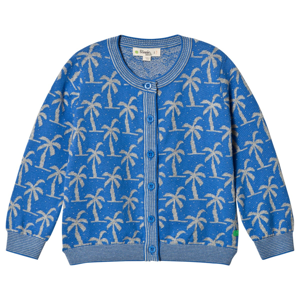 Palm tree jacquard baby coat