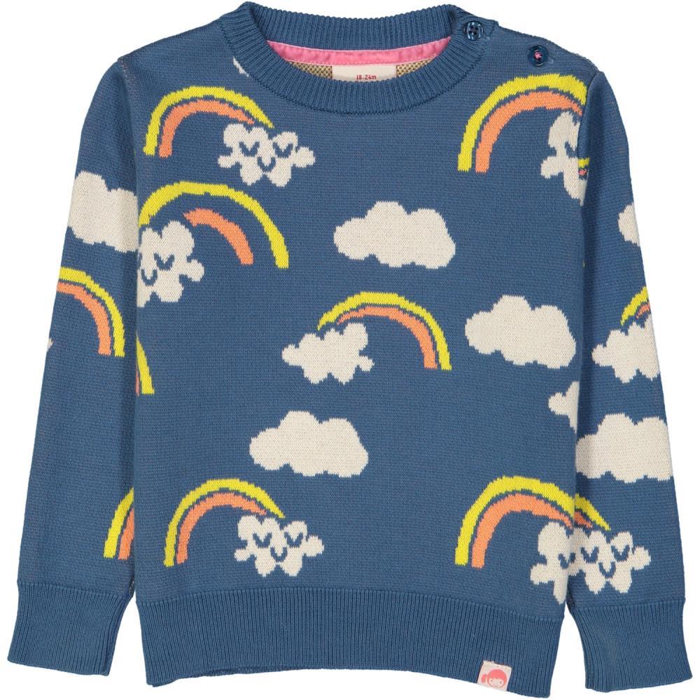 Rainbow Tootsa Tots jacquard knit jumper
