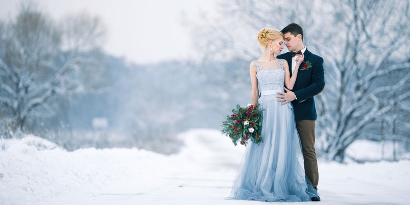 Blue Maternity Bridal Dress