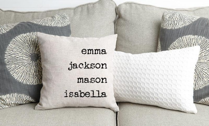 Family Names Toss Cushions