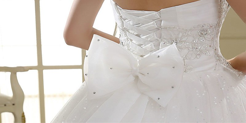 Strapless Chiffon Wedding Gown