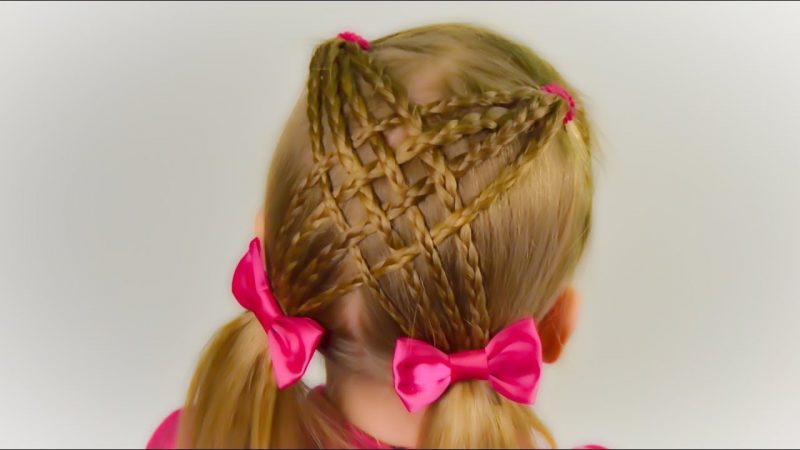 Criss-Cross Ponytails