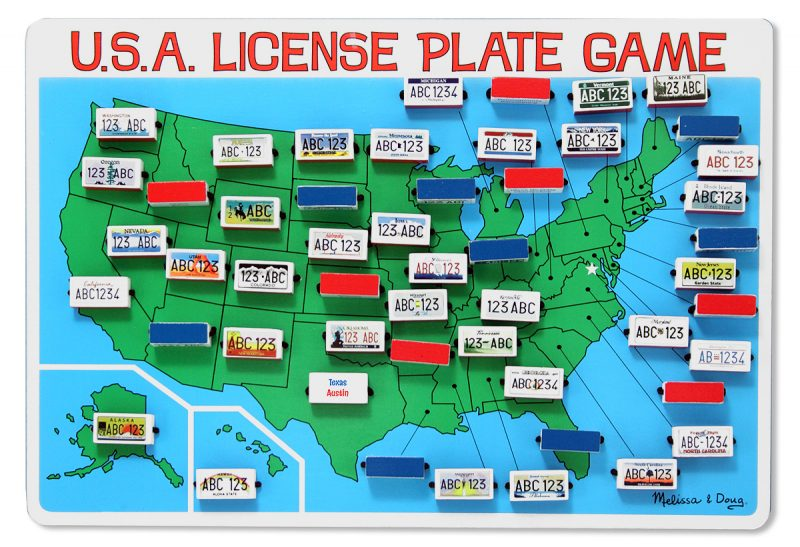 Melissa & Doug Flip-to-Win License Plate