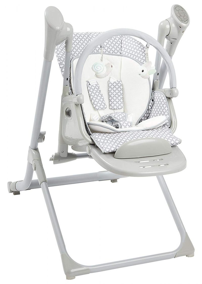 Primo 2-in-1 Smart Voyager Convertible Infant Swing with Bluetooth